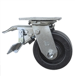 5 Inch Total Lock Swivel Caster with Polyolefin Wheel and Ball Bearings