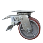 5 Inch Swivel Caster with Polyurethane Tread Wheel with Total Lock