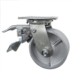 5 Inch Total Lock Swivel Caster with Semi Steel Wheel and Ball Bearings