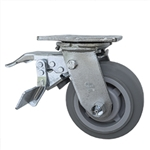 "5"" Swivel Caster with Total Lock and Thermoplastic Rubber Tread Wheel with Ball Bearings"
