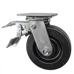 6 Inch Total Lock Swivel Caster with Phenolic Wheel and Ball Bearings