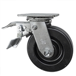 6 Inch Total Lock Swivel Caster with Phenolic Wheel