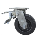 6 Inch Total Lock Polyolefin Wheel Swivel Caster and Ball Bearings