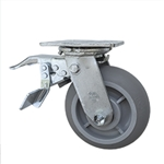 "6"" Swivel Caster with Total Lock and Thermoplastic Rubber Tread Wheel with Ball Bearings"