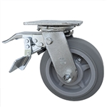 "6"" Swivel Caster with Total Lock and Thermoplastic Rubber Tread Wheel and Ball Bearings"
