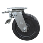8 Inch Polyolefin Wheel Swivel Caster, Ball Bearings and Total Lock