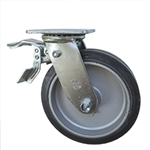 8 Inch Total Lock Swivel Caster with Rubber Tread on Aluminum Core Wheel