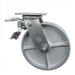 8 Inch Total Lock Swivel Caster with Semi Steel Wheel and Ball Bearings