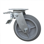 "8"" Swivel Caster with Total Lock and Thermoplastic Rubber Tread Wheel with Ball Bearings"