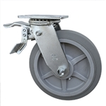 "8"" Swivel Caster with Total Lock and Thermoplastic Rubber Tread Wheel"