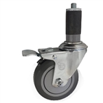 "4"" Expanding Stem Swivel Caster with Thermoplastic Rubber wheel and total lock brake"