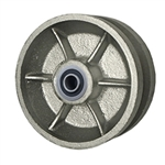 "5"" x 2"" V Groove Wheel with Ball Bearings"