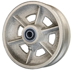 "6"" x 2"" V Groove Wheel with Ball Bearings"