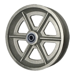 8 Inch Cast V Groove Wheel with Ball Bearings