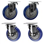 "5"" caster set with polyurethane wheels"