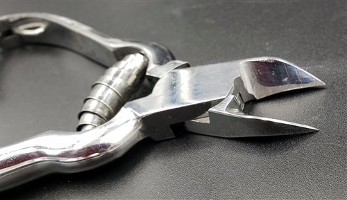 Small Stainless Steel Nail Clippers w/ Angled Jaws