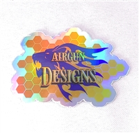 "Sticker Holographic Honey Comb Lion Logo AGD 3""X2"" - 3 Pack"