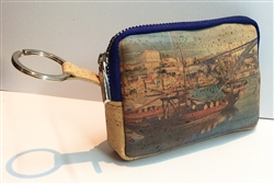 Cork Coin Purse with Key Ring Porto
