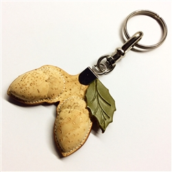 cork key ring holder - acorn