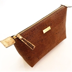Cork Cosmetic Bag Brown
