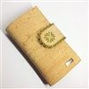 Cork Wallet Green Lace Large