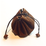 Cork Draw String Pouch Brown