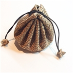 Cork Draw String Pouch Silver net
