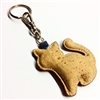 Cork Cat Key ring