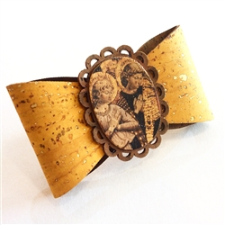 Cork French Hair Clip Angels