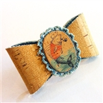 Cork French Hair Clip Sailor Fish