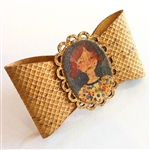 Cork French Hair Clip Young Lady