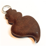 Cork Viana Heart Key Holder Brown