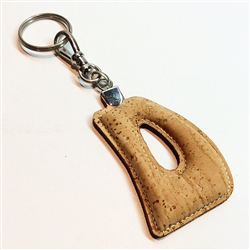 Cork Key Holder Letter D
