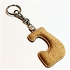 Cork Key Holder Letter J