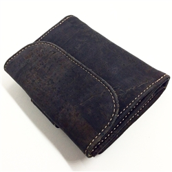 Cork small Wallet Black