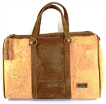 Big Cork Trunk Bag in a Natural and Brown Cork colour.