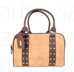 Trunk Travel Bag with Studs Natural