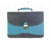 Computer Bag Turquoise navy Blue Flap w/lock