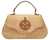 Cork Handbag with Compass and World map