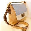 Cork Bag shoulder strap blue stripes
