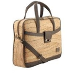 Cork Briefcase Leopard Design