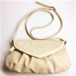 Cork Pleated White Pochete