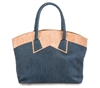 Cork Tote Dark Blue CollarLook