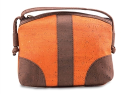 Cork Half Moon Purse Orange