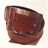 Belt Hammered buckle  Brown