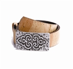 Ladies Cork Belt Fantasy Buckle Natural