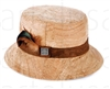 Hat with Feather Natural Cork