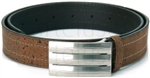 Brown Cork Men's Belt Rectangular Buckle