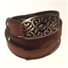 Cork Belt Brown Celtic buckle