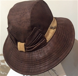 Cork Wide Brim Sun Hat with Bow